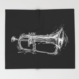 Flugelhorn Throw Blanket