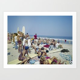 1970's Surfing Competition in Virginia Beach, VA Art Print