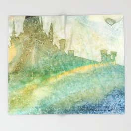 Unity - 23 Watercolor painting Throw Blanket