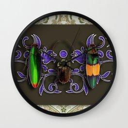 TRILOGY BEETLES I Wall Clock