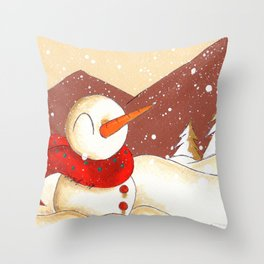 Mountain Flurry Throw Pillow
