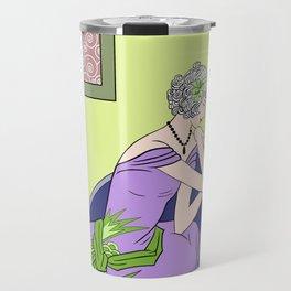 CLARICE: Art Deco Lady - Spring Lilac Travel Mug