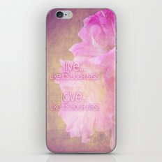 Live And Love iPhone & iPod Skin