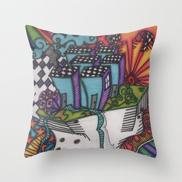 a new society Throw Pillow