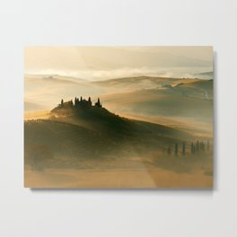 Sunrise in Val D'Orcia Metal Print