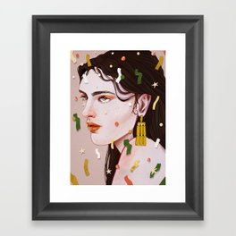 Bored At a Party Framed Art Print
