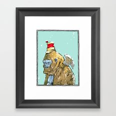 Winged Gorilla Framed Art Print