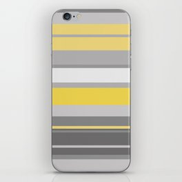 yellow and grey horizontal iPhone Skin