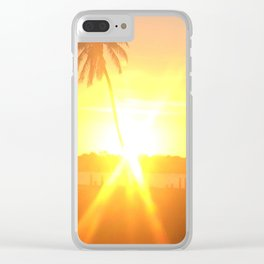 Sunset Burst Clear iPhone Case