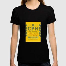 Baggage Tag D - CPH Copenhagen Kastrup Denmark T-shirt