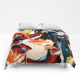 Expressive Abstract Composition painting Comforters