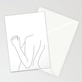 Nude figure line drawing illustration - Fina Stationery Cards