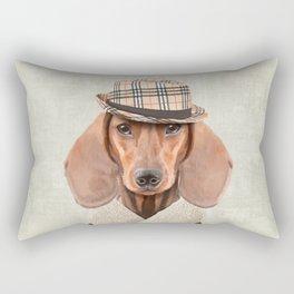 The stylish Mr Dachshund Rectangular Pillow