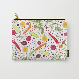 Fruits and vegetables pattern (21) Carry-All Pouch