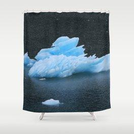 Blue Icebergs Of Alaska Glacier Shower Curtain