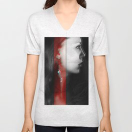 beautiful woman Unisex V-Neck