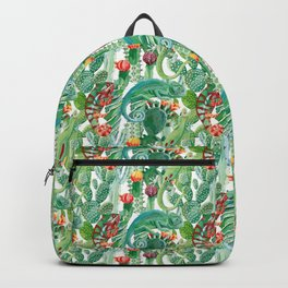 chameleon cacti pattern Backpack