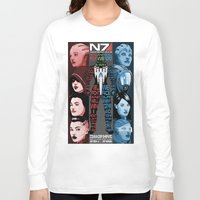 n7 Long Sleeve T-shirts featuring N7: The Female Squad by Alex Rodway Illustration