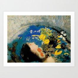"""Odilon Redon """"Ophelia"""" Art Print"""