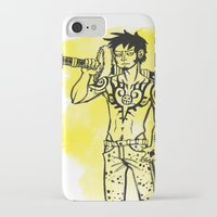 law iPhone & iPod Cases featuring Trafalgar Law by Sammerdoodle Designs