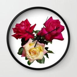 Rose Bouquet Wall Clock