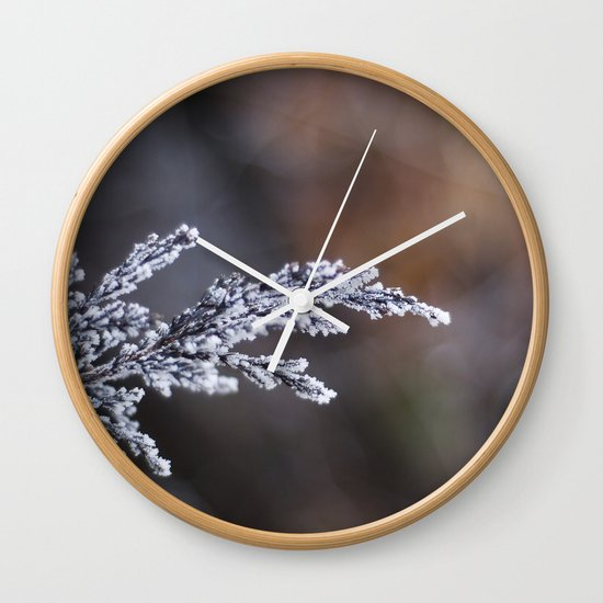 Frosted Juniper Wall Clock