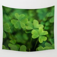 clover Wall Tapestries featuring Clover by Michelle McConnell