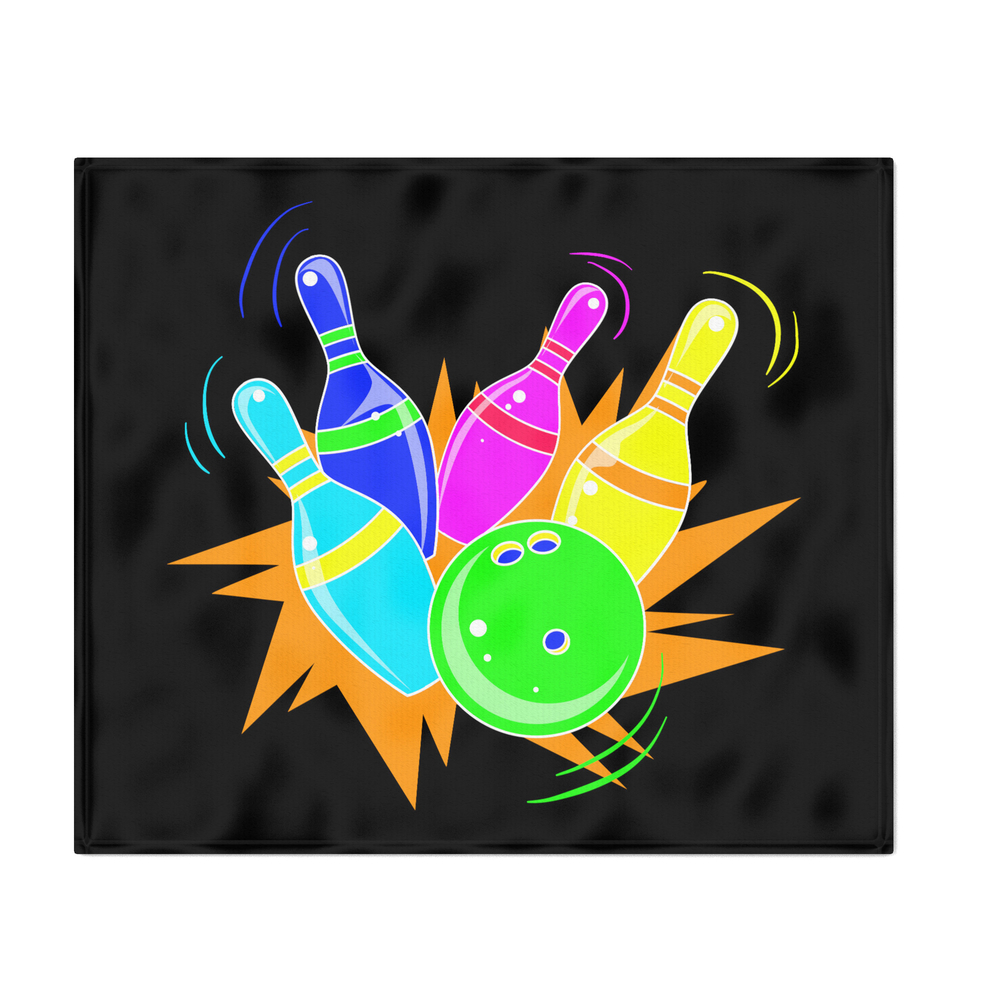 Neon_Vintage_Retro_Strike_Bowling__Gift_Throw_Blanket_by_shirtschleuder