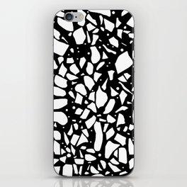 Terrazzo Spot 2 Black iPhone Skin
