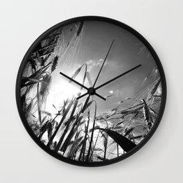 In the grain Black white Wall Clock
