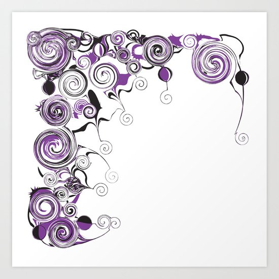 Purple Swirls And Twirls Art Print
