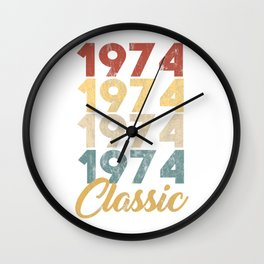 46 th Birthday Gift for Men and Women Born in 1974 Classic 46 th Birthday Party Wall Clock