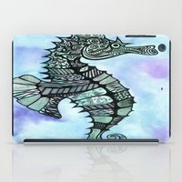 tatoo iPad Cases featuring Tatoo Seahorse by PepperDsArt