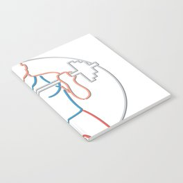 Athlete Lifting Barbell Neon Sign Notebook