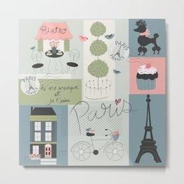 Paris patterns Metal Print