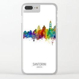 Santorini Skyline Clear iPhone Case