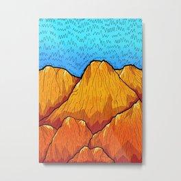 The sandy mountains Metal Print
