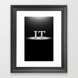 It's Lit! Framed Art Print