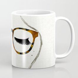 Tortoiseshell Glasses Brunette Coffee Mug
