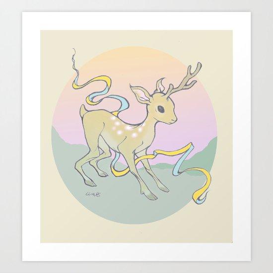 Unifawn (color) Art Print