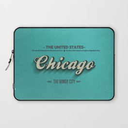 Vintage Chicago Laptop Sleeve