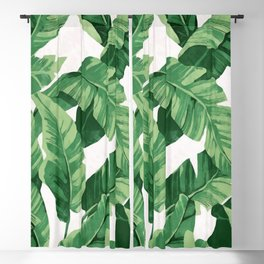 Tropical banana leaves IV Blackout Curtain