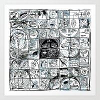 patchwork 010 Art Print