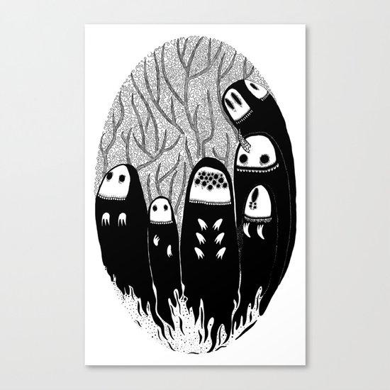 Crowded Wood Canvas Print