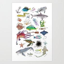 Under the Sea Alphabet Art Print