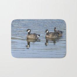 Three Cackling Geese Bath Mat