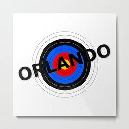 Orlando Target Metal Print