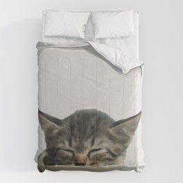 kitty digital painting Comforters