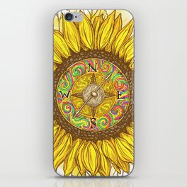 Sunflower Compass iPhone Skin