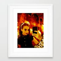 selfie Framed Art Prints featuring Selfie by Danielle Tanimura